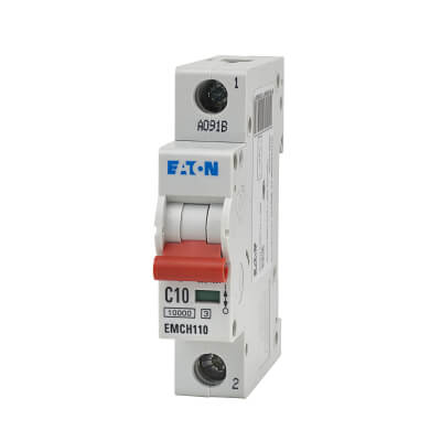 Eaton MEM 10A Single Pole 3 Phase MCB - Type C)