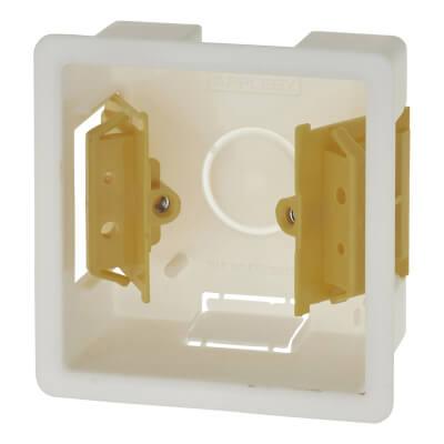 Appleby 1 Gang Dry Line Box - 35mm - White)