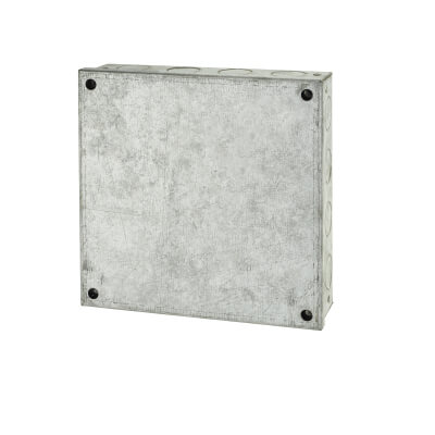 Adaptable Back Box with Knockouts - 43mm - Galvanised)