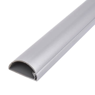 D-Line Trunking - Self Adhesive - 50 x 25 x 3m - Aluminum Effect)