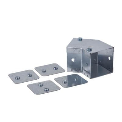 Top Lid Bend - 45° - 50 x 50mm - Galvanised)