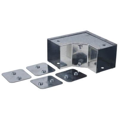 Internal Square Bend - 90° - 50 x 50mm - Galvanised