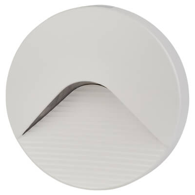 Integral LED 2.2W PathLux Step Round Brick Light - White)