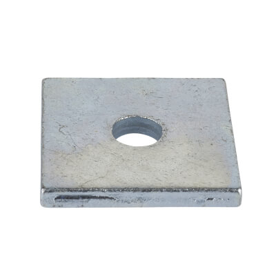 M8 Square Plate Washer - Zinc Plated - Pack 100)