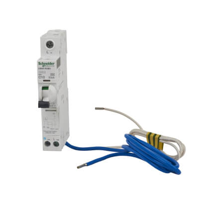 Schneider Acti 9 Isobar 10A 30mA Single Pole 3 Phase RCBO - Type C)