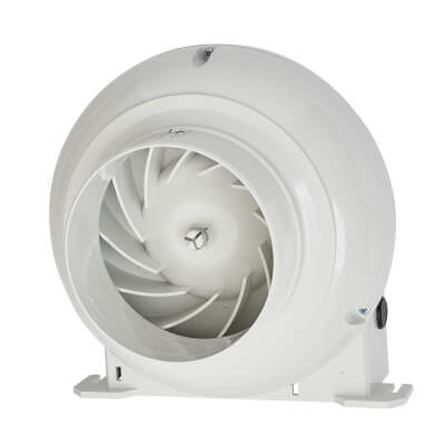 Manrose CFD200T 4 Inch Duct Centrifugal Extractor Fan with Timer)