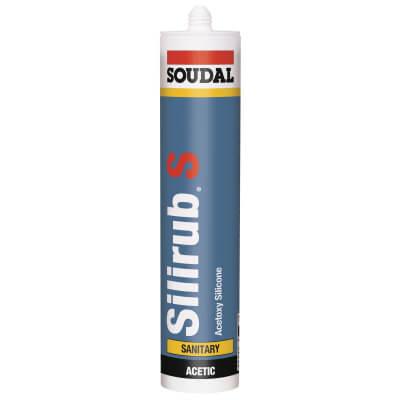 Soudal Silirub S Sanitary Silicone - 310ml - Brown)