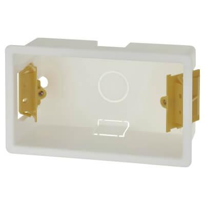 Appleby 2 Gang Dry Line Box - 46mm - White)