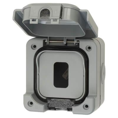MK IP56 1 Gang Weatherproof Modular Grid Enclosure - Grey