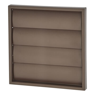 Manrose 150mm Wall Gravity Grill - Brown)