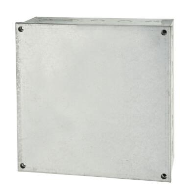 Adaptable Back Box - 12 x 12 x 4 Inch - Galvanised)