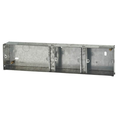 2+1+1 Gang Knockout Back Box - 35mm - Galvanised)