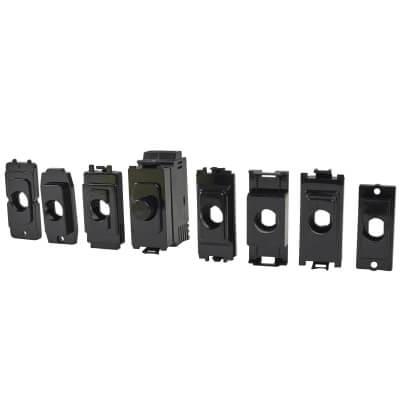 1 Gang LED Dimmer Module - Black)
