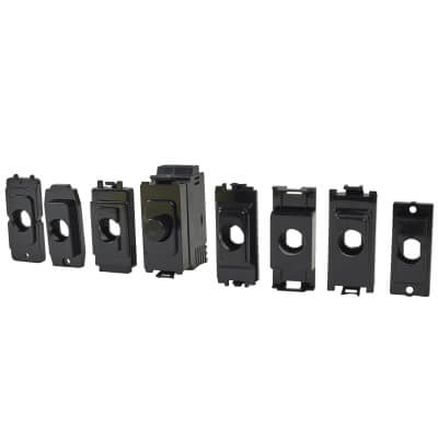 1 Gang LED Dimmer Module - Black)