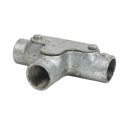 Steel Conduit Inspection Tee - 20mm - Galvanised)