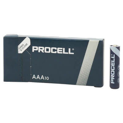 Duracell Procell Batteries - AAA Type - Pack 10)