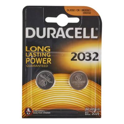 Duracell Lithium Batteries - 2 x 3V - 2032 - Pack 2)