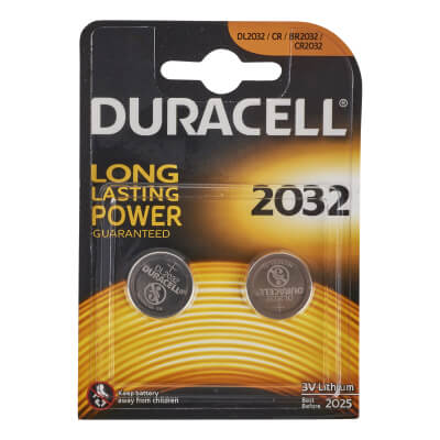 Duracell Lithium Batteries - 2 x 3V - 2032 - Pack 2