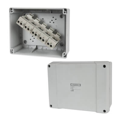 Hensel IP65 8 Inch Connection Box - Grey)