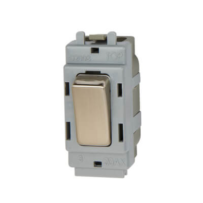 BG 20A Intermediate Grid Switch Module - Brushed Steel)