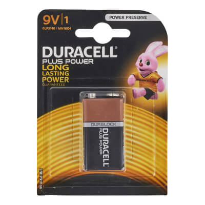 Duracell Batteries - PP3 Type - Pack 1)