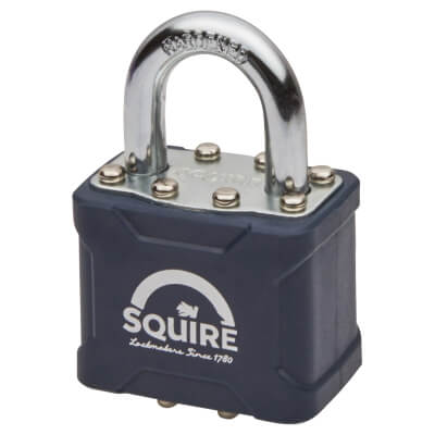 Squire Stronglock Laminated Steel Padlock - 38mm - Keyed to Differ