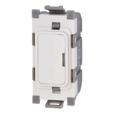 Deta 13A Grid Fused Outlet Module - White)