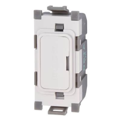Deta 13A Grid Fused Outlet Module - White)