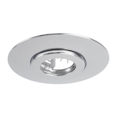 GU10 Conversion Downlight Plate - Chrome)