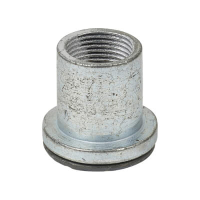Steel Conduit Flanged Coupler - 20mm - Galvanised)