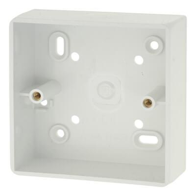 Marshall Tufflex 1 Gang Radius Surface Pattress Box with Knockout - 32mm - White)