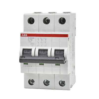 ABB 10A 10kA Triple Pole 3 Phase MCB - Type C)