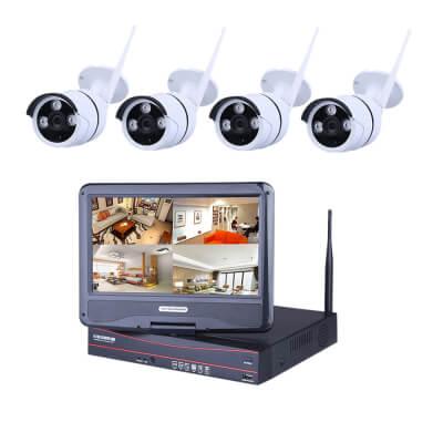 Ener-J Outdoor Wireless Wi-fi IP Camera System - 4 Cameras/1TB Storage)