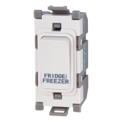 Deta 20A Printed Grid Switch - Fridge/Freezer - White)
