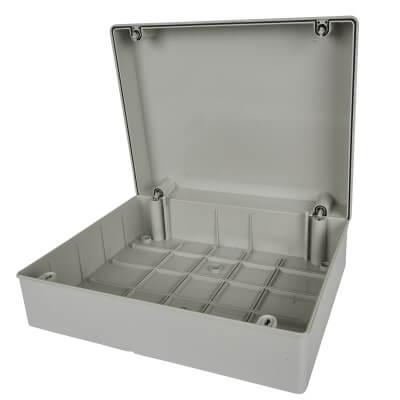Adaptable Back Box - 130mm - Off-White PVC)