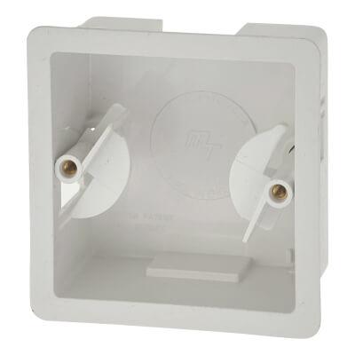 Marshall Tufflex 1 Gang Dry Lining Box - 32mm - White