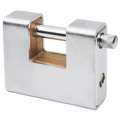 Armoured Shutter Lock - 80mm - Keyed Alike Key 1)