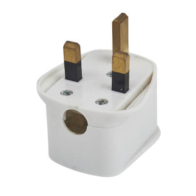 Surge Protected Plug Top - White