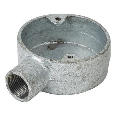 Steel Conduit Terminal Box - 20mm - Galvanised