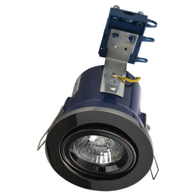 Forum Yate Adjustable LED Fire Rated Downlight - Black Chrome)