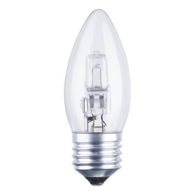 42W ES Halogen Candle Lamp - Clear)