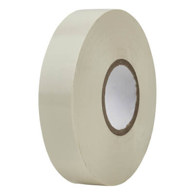 Directa 19mm Roll PVC Tape - 33m - White)