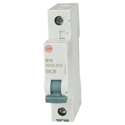 Wylex 16A NH Single Pole MCB - Type B)