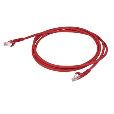 Cat5 RJ45 Patch Lead - 2m - Red)