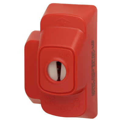 Hager Klik 6A 3 Terminals 4 Pin Plug without Lead - Red)