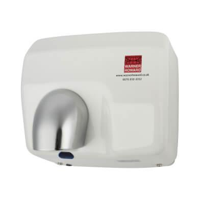 Warner Howard 2.5kW Automatic Hand Dryer - White)