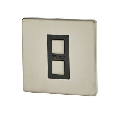 LightwaveRF 1 Gang 250W Dimmer - Stainless Steel