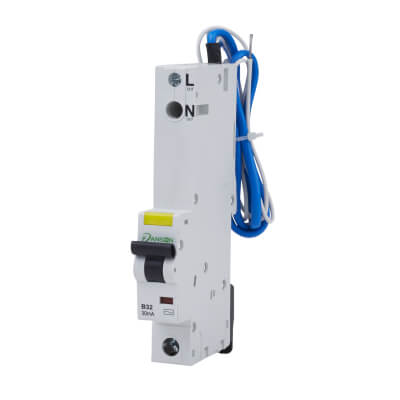 Danson 32A 30mA Single Pole RCBO - Type B)