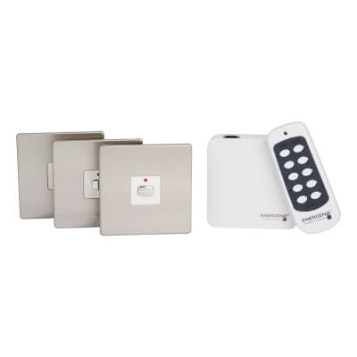 Energenie MiHome Switch Bundle - Brushed Steel)