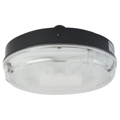28W 2D Screw Drum Bulkhead Light - Black Prismatic